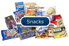 Products Buttons Snacks